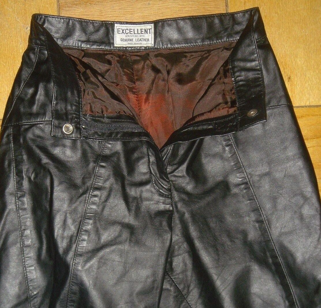 Genuine Leather Craft Process Excellent Stylists Women Pants Size 5   6 Small