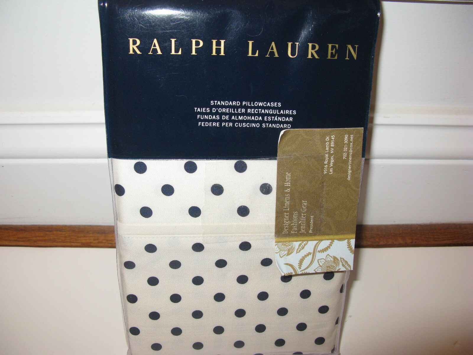 Lauren MODERN King Pillowcases NIP GLAMOUR Ralph nqzili2288