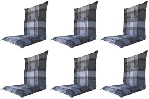 6x conditions pour Niederlehner fauteuil Lot Chaise Coussin niedriglehner bas