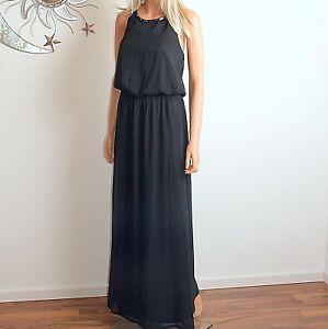 Black Back View Dress 38 Decorative Maxi Nuovo Biba ஜ Dress Long Gr qw0YE