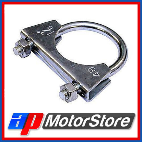 Exhaust U Hose Clamp Clamps Clamping Clips Nuts Bolts Zinc Plated Universal New