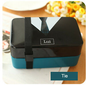 japanese mens tie pattern plastic bento lunch box kids food lunch containers. Black Bedroom Furniture Sets. Home Design Ideas