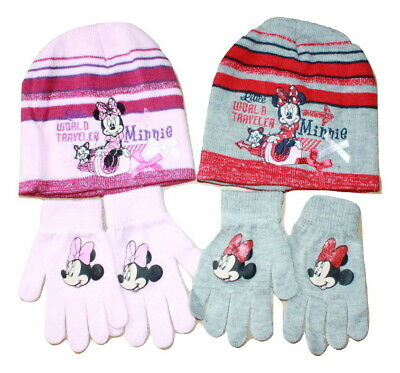 Kids Girls//Boys Disney Cars /& Minnie Mouse Winter Hat /& Scarf Set!