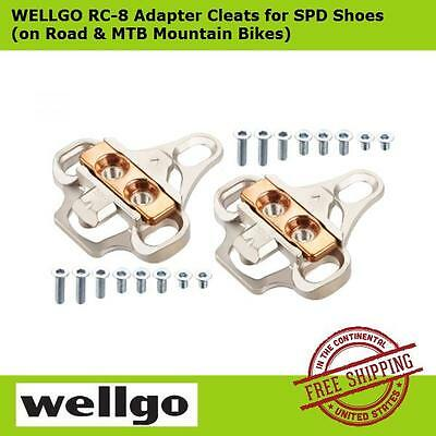 Wellgo Cleats Adaptor RC8 RC-8 Clipless  Road Cleats To SPD Cleats Cr-Mo