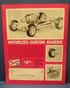 "LINDBERG 1965 "" Custom motorized Chassis ""single sided dealer sales flyer L@@K!"