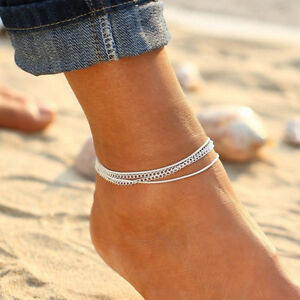 Women-Turquoise-Charm-Anklet-Ankle-Bracelet-Chain-Sandal-Beach-Foot-Jewelry-Gift