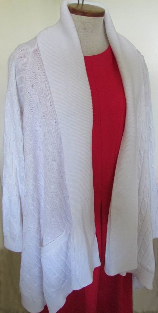 NWT Ralph Lauren Sport Shawl Collar Open-Front Wing Draped Cardigan Size XL