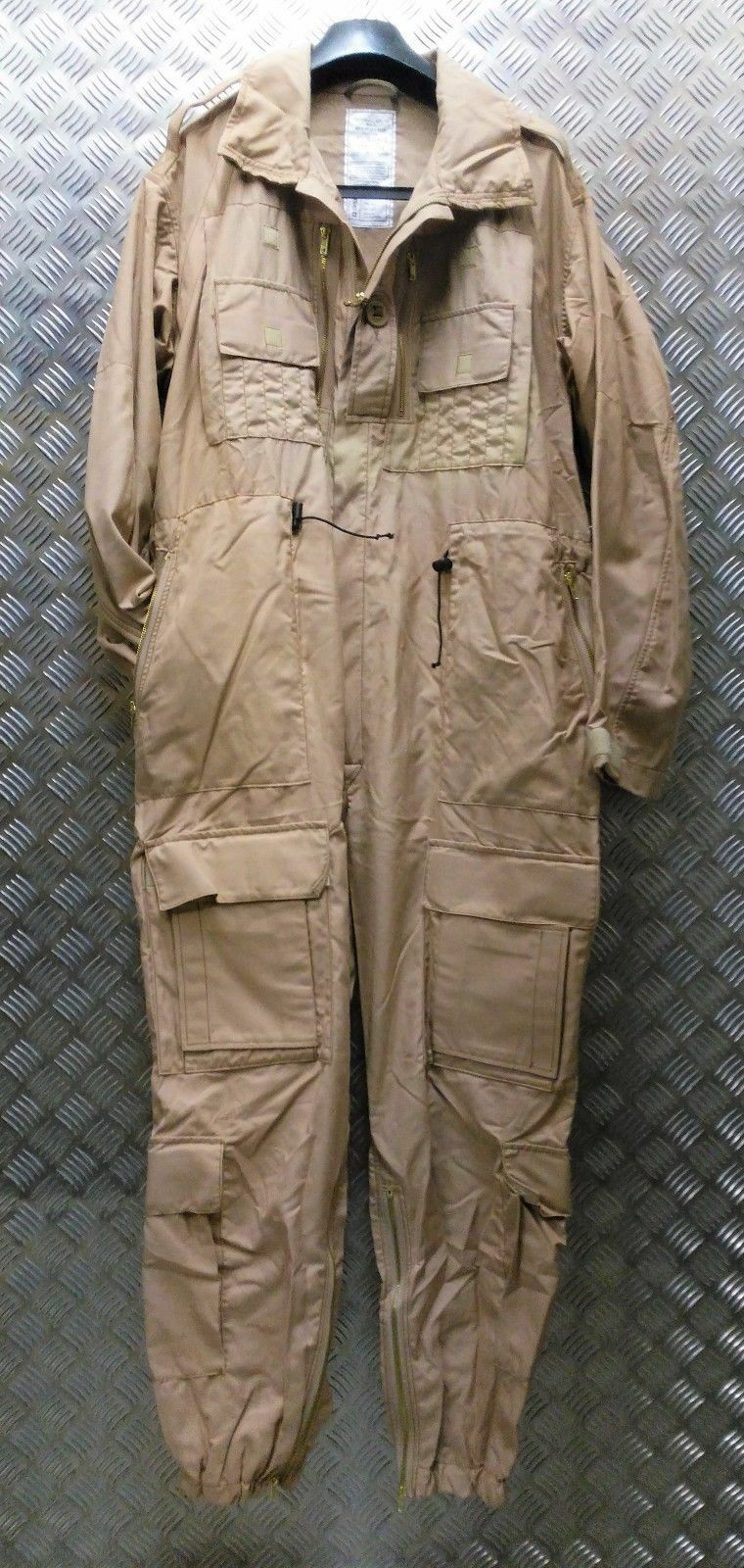 Genuine British Military AFV FR Beige Coverall Ground Crew / Tank Suit - NEW