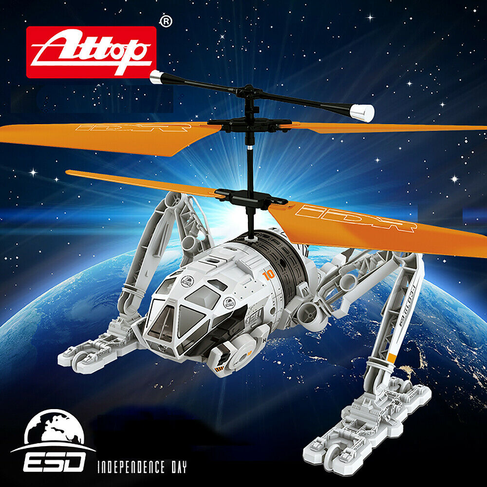 Licensierad Independence Day RC Helikopter Remote Control Drone 2.5-Channel w Gyro