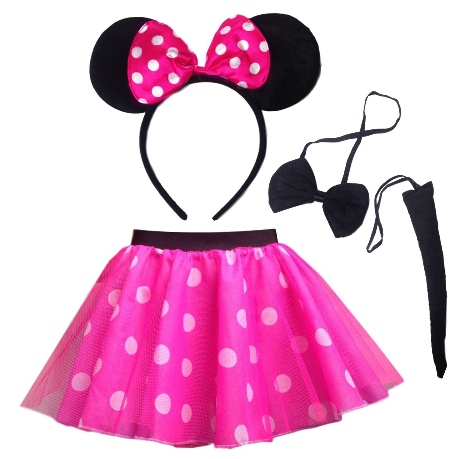 NEW Girls Pink MINNIE Mouse DANCE Costume Fancy Dress Accessory Set Ears Tail