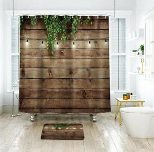 Rusty Horseshoe and Daisies on Rustic Old Barnwood Western Shower Curtain