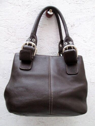 Cuir Authentique En Vintage Tbeg Tignanello Sac Main Bag À S7z7O