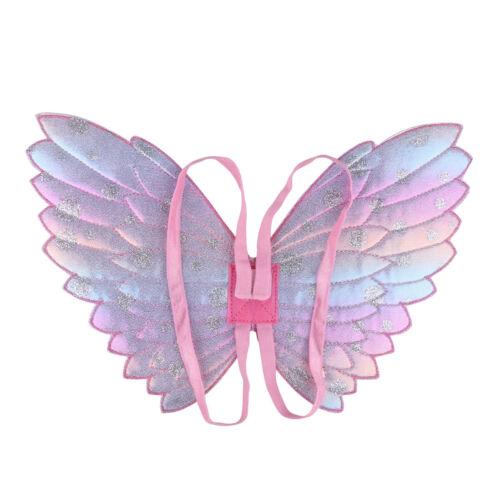 Kids Girls Fancy Fairy Angel Glittery Butterfly Wings Wand Party Cosplay Costume