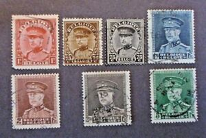 1931 32 Belgium Stamps Short Set King Albert 1 Used Ebay