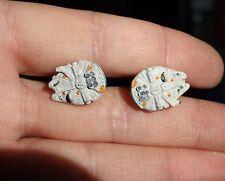 Star Wars Millennium Falcon Cuff Links - Handmade - Wedding Groom Gift cufflinks