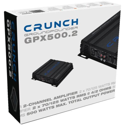 CRUNCH GPX Verstärker 2 Kanal Endstufe CLASS A//B