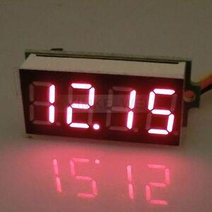 DC-0-33V-Rot-LED-4-Digit-Digital-Voltmeter-Panel-Meter