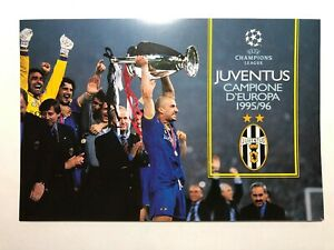 1996-Bolaffi-Folder-Juventus-Campione-D-039-Europa-1995-96-Coppa-Campioni-Champion