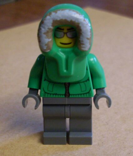 Eisfischer Eskimo grün City Town Stadt Neu 7553 Lego Figur Ice Fisherman