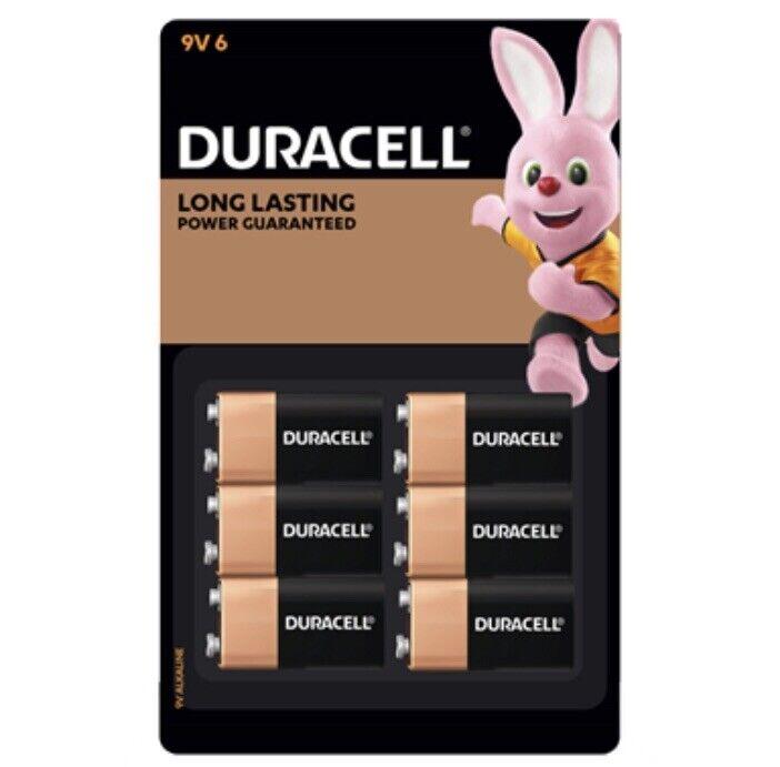 Duracell Coppertop 9V Batteries - 6 Pack - Long Lasting Alkaline Batteries