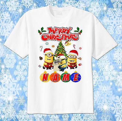 Minion Christmas custom tshirt PERSONALIZE, Christmas gift, xmas, Despicable me