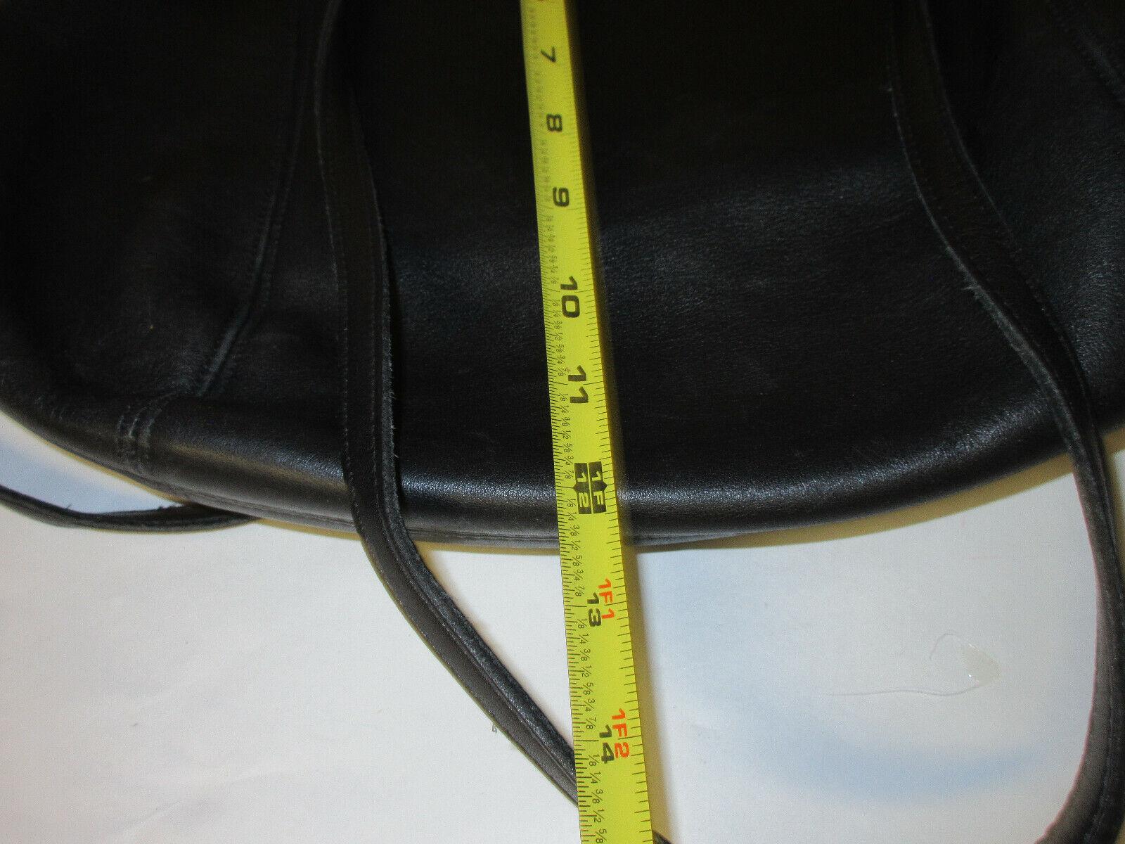 Vtg COACH 9998 Black Leather Large Framed Pouch H… - image 7