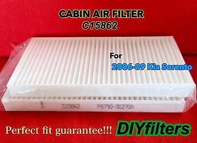 C15862 Non-Carbonized AC CABIN AIR FILTER for 2006 2007 2008 2009 Kia Sorento