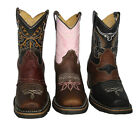 children cowboy boots leather square toe rodeo Style# Kids Toddler 754
