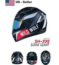 Shiro Wild Wolf Motorcycle Helmet SH-335 Carbon Fiber Air Pump Racing Original