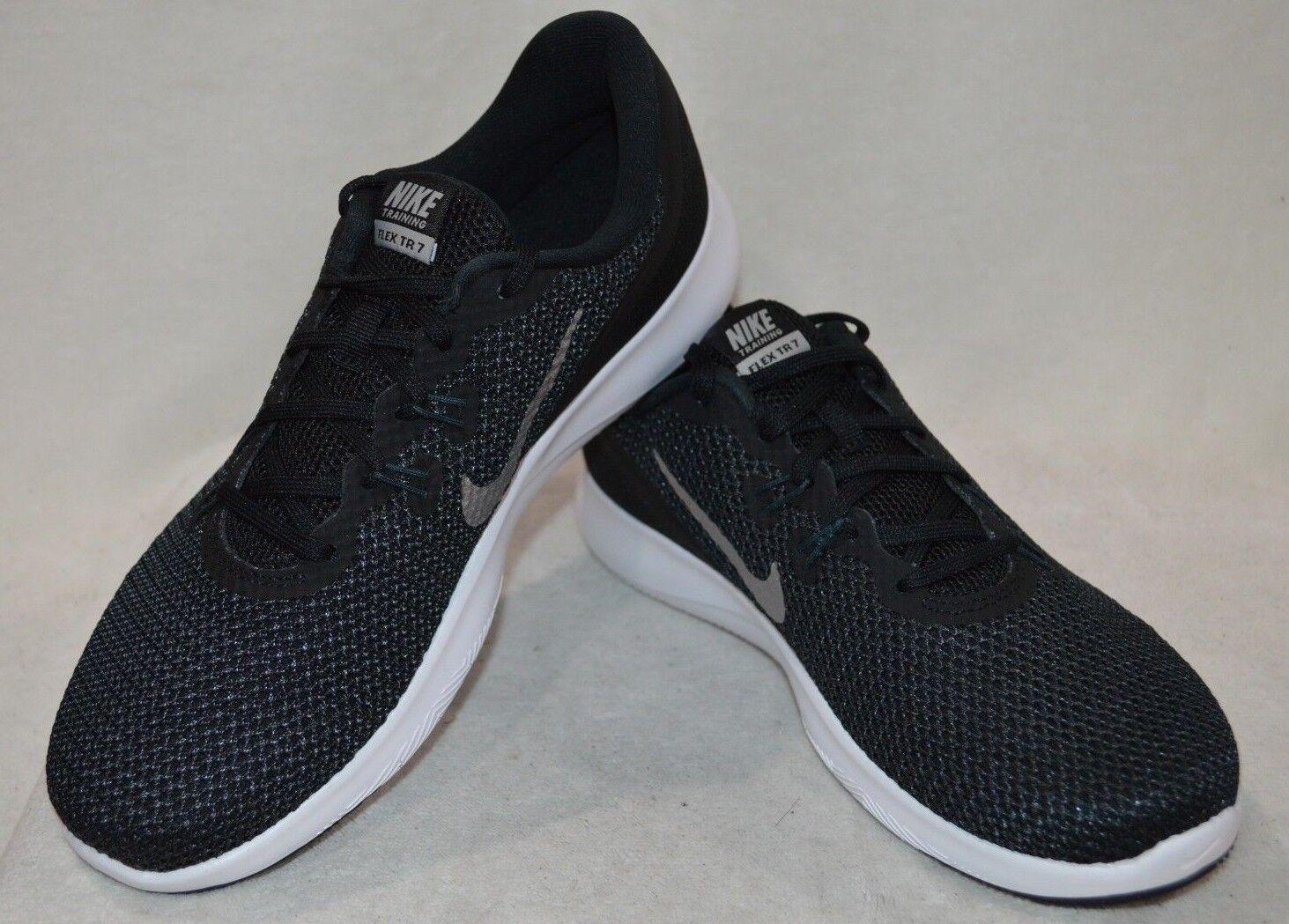 Nike Flex Trainer 7 Black/Silver Women's Cross-Trainers Shoes-Asst Size WIDE NWB
