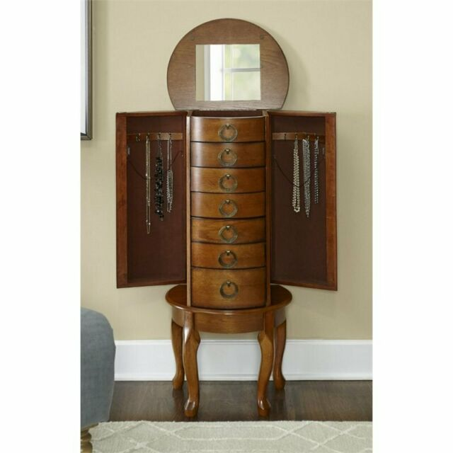 Powell Furniture 604 318 Burnished Oak, Used Jewelry Armoire