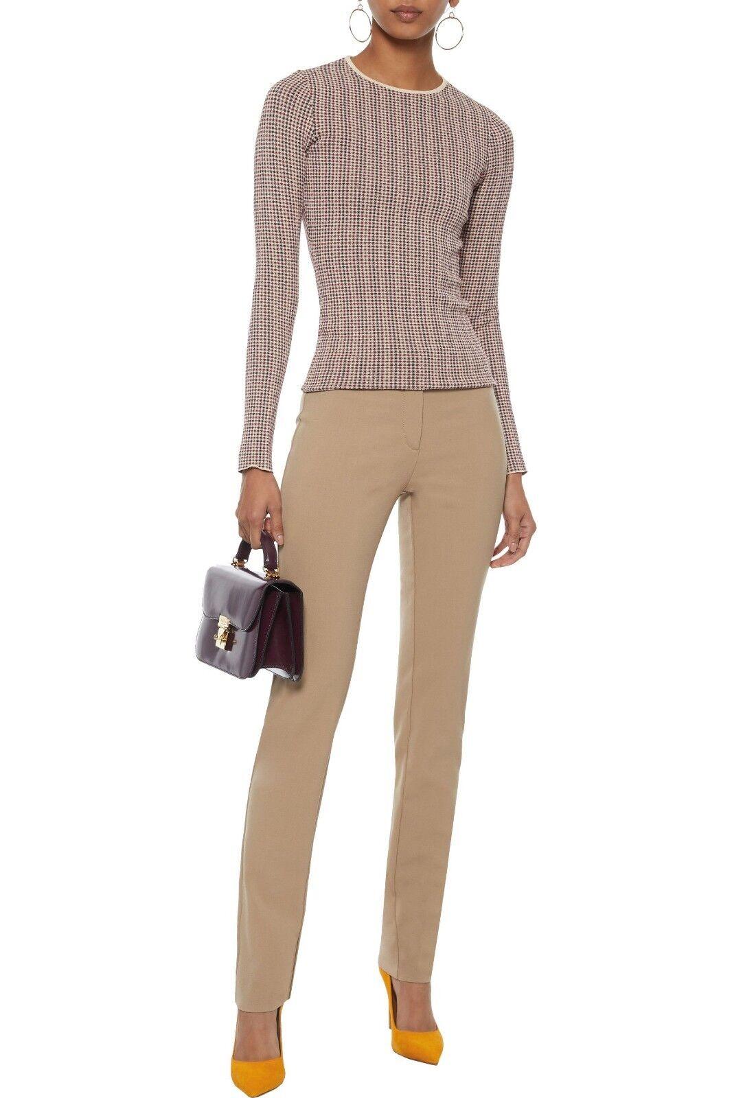 Derek Lam Hanne wool-blend twill slim-leg pants in Camel sz.36 (US 0) NWT