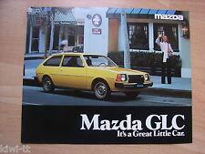 Mazda GLC (= 323) Prospekt / Brochure / Depliant, USA