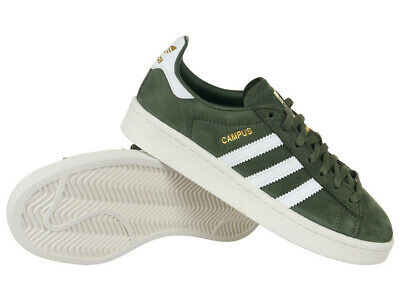 Women's adidas Originals Campus Shoes Green Leather Everyday Trainers | eBay
