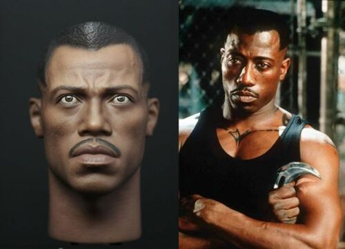 "Custom 1//6 Scale Blade The Series Wesley Snipes Head Fit 12/"" Hot Toys  Figure"