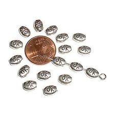 20 Perles intercalaire spacer Ovale gravé OK 6.5x5x3mm Apprêts créat bijoux A123