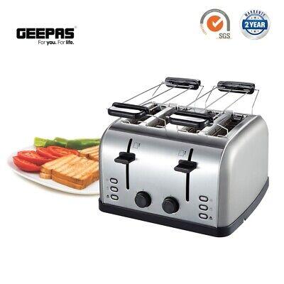 Geepas Bread Bagel Toaster Bun Warmer Rack 4 Slices Wide