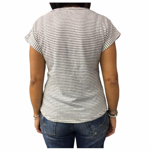 Donna Tracy 80 Cotone nero Bianco Morning Sunday My Mod Righe T Lino shirt 20 4AIqv6z