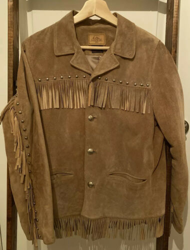 Ralph Lauren Light Brown Suede Leather Fringe West