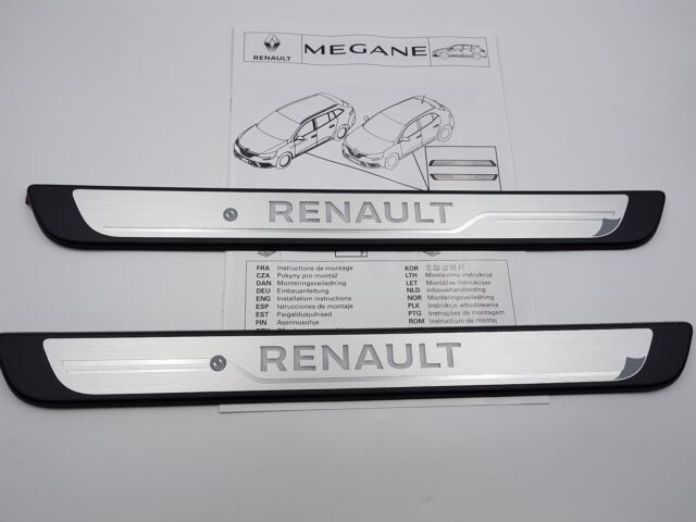 seuils de porte renault megane 4 iv avant entry guards. Black Bedroom Furniture Sets. Home Design Ideas