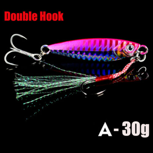 Spinning Baits Lead Casting Jig Bait Feather Metal Fishing Lures