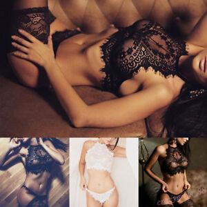 G-string-Nightwear-Underwear-Bra-Sexy-Lingerie-Lace-Clothes-Set-Fashion-Women