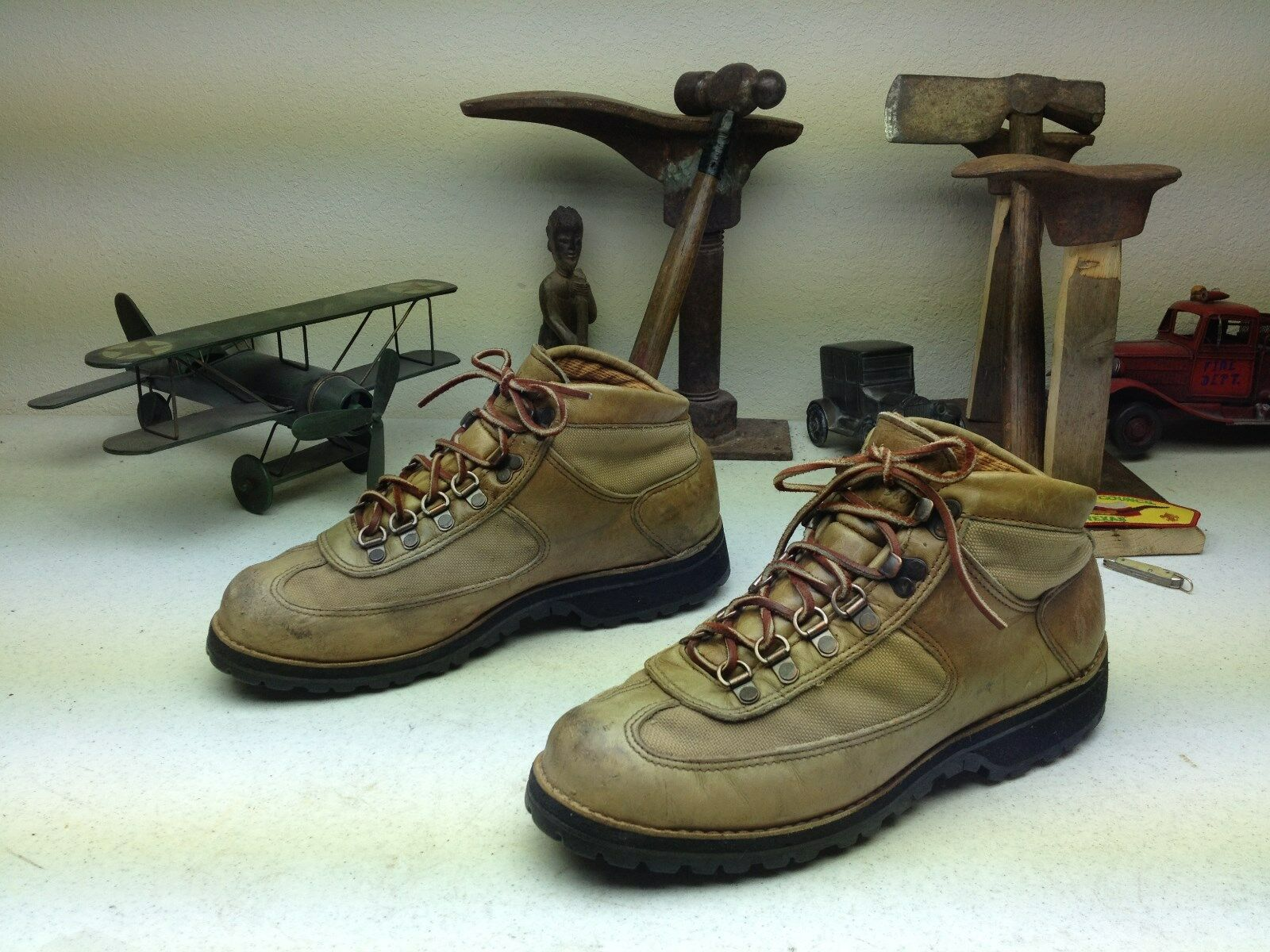 DISTRESSED DANNER STYLE 8364 TAN BLONDE DESERT PACKER WORK CHORE BOOTS SIZE 10 M