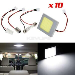Details about 10pcs White COB LED Panel for Car Trunk Dome Map Interior  Replace Lights Bulbs