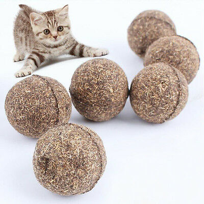 Nature Cat Mint Ball Play Toys Ball Coated with Catnip & Bell Toy for Pet Kitten