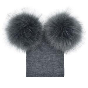 1686eaee6 Details about Child Baby Boys Girls Beanie Hat Cap Winter Warm Double Fur  Pom Bobble Knit A33X