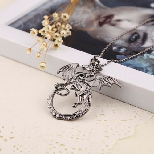Dragon Game of Thrones Daenerys Khaleesi Targaryen Charm Pendant Necklace Gift