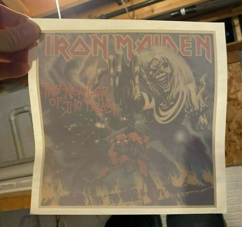Iron Maiden Rock n Roll Band T-Shirt Transfer Old Stock NOS