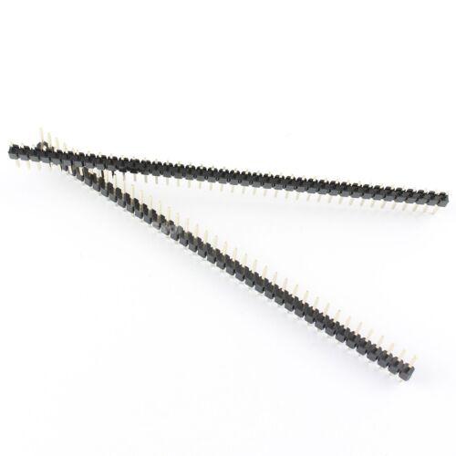 200Pcs Pitch 2.54mm 40 Pin Male Single Row Straight Pin Header Strip