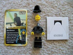 LEGO-Star-Wars-Rare-Original-Jedi-Luke-Skywalker-amp-Card-From-3341-New